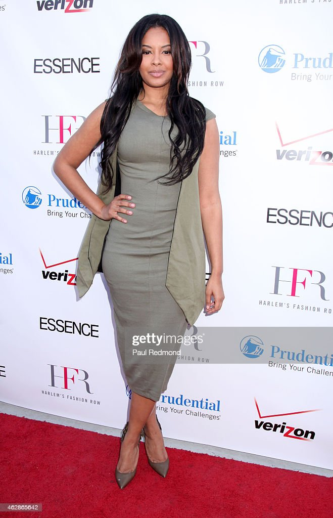 Actress/TV personality Vanessa Simmons attends Harlem Fashion Row 'Style Beat' at private residence on February 6 2015 in Beverly Hills California