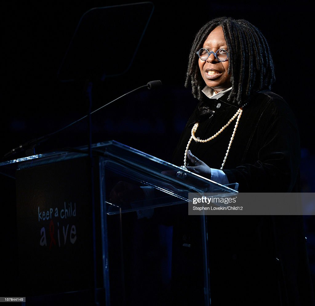 Actress/TV personality <a gi-track='captionPersonalityLinkClicked' href=/galleries/search?phrase=Whoopi+Goldberg&family=editorial&specificpeople=202463 ng-click='$event.stopPropagation()'>Whoopi Goldberg</a> speaks on stage during Black Ball Redux at The Apollo Theater on December 6, 2012 in New York City.