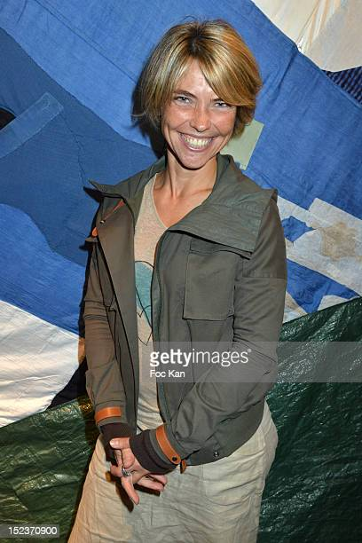 Actress/TV presenter Nathalie Vincent attends 'En Attendant Que les Beaux Jours Reviennent' Public Reading Cocktail at Espace Des Femmes September 19...