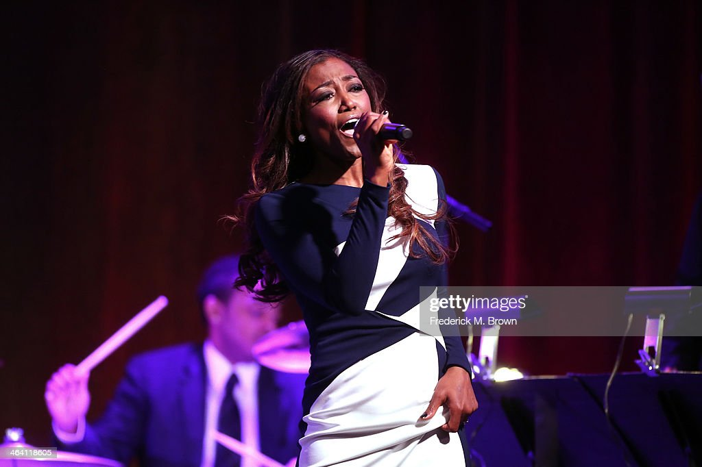 Actress/Vocalist <a gi-track='captionPersonalityLinkClicked' href=/galleries/search?phrase=Patina+Miller&family=editorial&specificpeople=5748190 ng-click='$event.stopPropagation()'>Patina Miller</a> performs onstage during the 'Live From Lincoln Center' event of the PBS portion of the 2014 Winter Television Critics Association tour at Langham Hotel on January 20, 2014 in Pasadena, California.