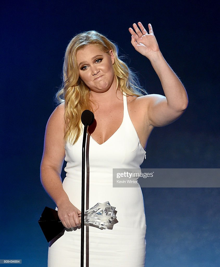 Actresswriter Amy Schumer accepts Critics' Choice MVP Award onstage during the 21st Annual Critics' Choice Awards at Barker Hangar on January 17 2016...