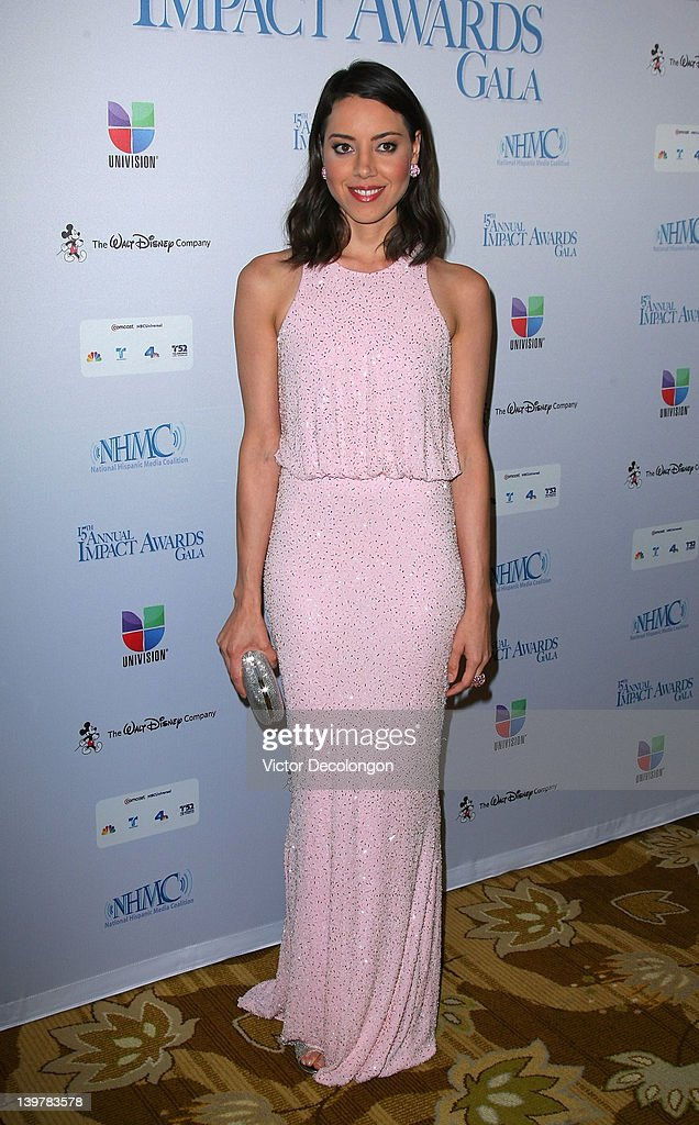 Actress/Writer Aubrey Plaza arrives for The National Hispanic Media Coalition's 15th Annual Impact Awards - Arrivals at the Beverly Wilshire Four Seasons Hotel on February 24, 2012 in Beverly Hills, California.