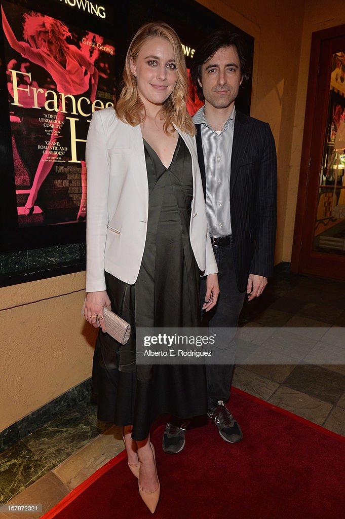 Actress/writer <a gi-track='captionPersonalityLinkClicked' href=/galleries/search?phrase=Greta+Gerwig&family=editorial&specificpeople=4249808 ng-click='$event.stopPropagation()'>Greta Gerwig</a> and director/writer <a gi-track='captionPersonalityLinkClicked' href=/galleries/search?phrase=Noah+Baumbach&family=editorial&specificpeople=841432 ng-click='$event.stopPropagation()'>Noah Baumbach</a> attend a screening of IFC Films' 'Frances Ha' at the Vista Theatre on May 1, 2013 in Los Angeles, California.