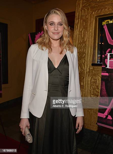 Actress/writer Greta Gerwig attends a screening of IFC Films' 'Frances Ha' at the Vista Theatre on May 1 2013 in Los Angeles California