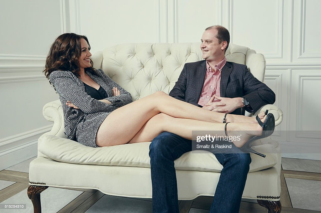 Actress/writer Kate Siegel and writer/director Mike Flanagan of 'Hush' are photographed in the Getty Images SXSW Portrait Studio powered by Samsung...