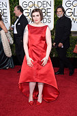 Actress/writer Lena Dunham attends the 72nd Annual Golden Globe Awards at The Beverly Hilton Hotel on January 11 2015 in Beverly Hills California