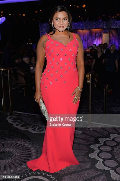 Actress/writer Mindy Kaling attends the 18th Costume Designers Guild Awards with Presenting Sponsor LACOSTE at The Beverly Hilton Hotel on February...