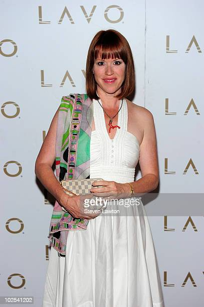 Actress/writer Molly Ringwald arrives to celebrate her new book 'Getting The Pretty Back' at the Lavo Restaurant Nightclub at The Palazzo on June 29...
