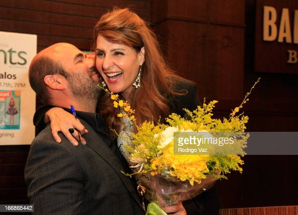 Actress/Writer Nia Vardalos and husband Ian Gomez attend the signing for her new book 'Instant Mom' at Barnes Noble bookstore at The Grove on April...