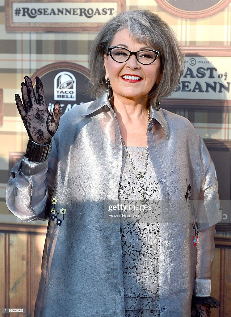 Actress/writer <a gi-track='captionPersonalityLinkClicked' href=/galleries/search?phrase=Roseanne+Barr&family=editorial&specificpeople=228388 ng-click='$event.stopPropagation()'>Roseanne Barr</a> arrives at the Comedy Central Roast of <a gi-track='captionPersonalityLinkClicked' href=/galleries/search?phrase=Roseanne+Barr&family=editorial&specificpeople=228388 ng-click='$event.stopPropagation()'>Roseanne Barr</a> at Hollywood Palladium on August 4, 2012 in Hollywood, California.