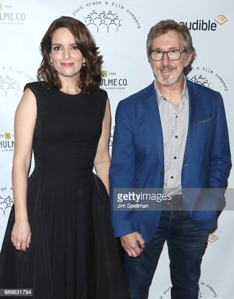 Actress/writer Tina Fey and CEO of Audible Don Katz attend the 2017 New York Stage and Film Winter Gala at Pier Sixty at Chelsea Piers on December 5...