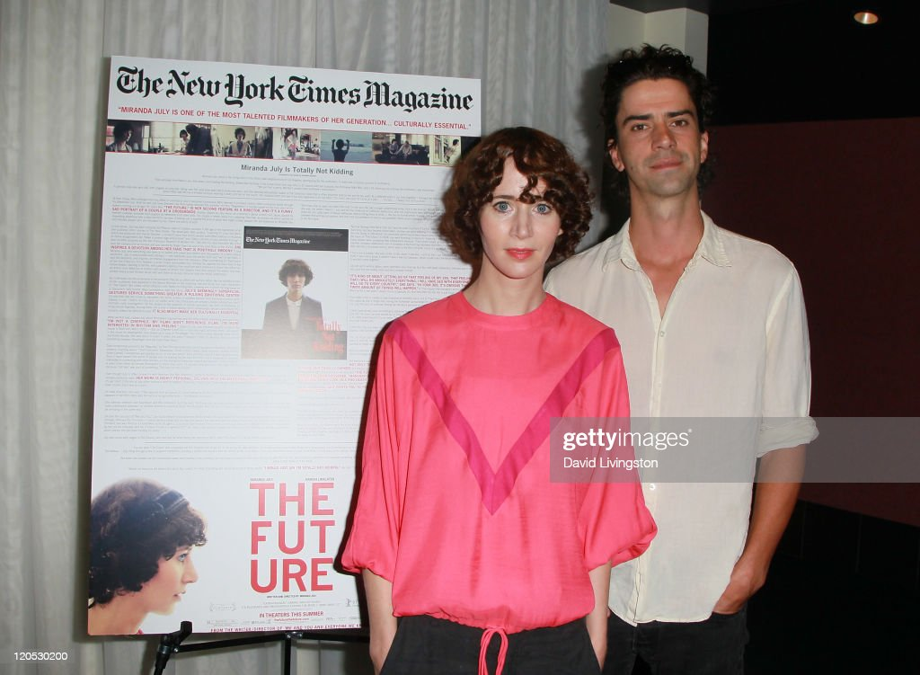 Actress/writer/director Miranda July and actor Hamish Linklater attend a screening of 'The Future' at ArcLight Hollywood on August 6 2011 in Los...