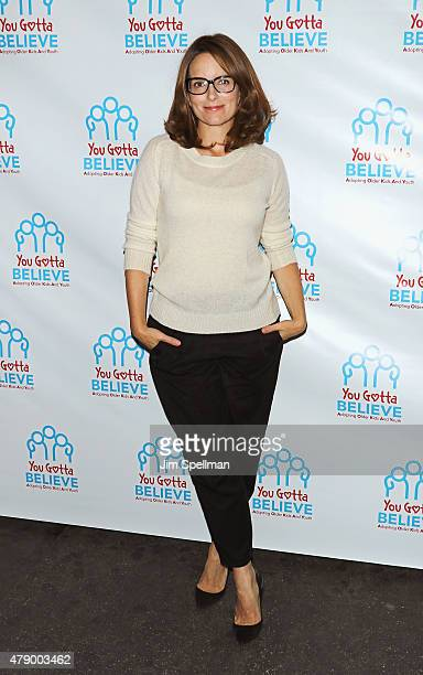 Actress/writer/producer Tina Fey attends the 'Voices For The Voiceless Stars For Foster Kids' event at the St James Theater on June 29 2015 in New...