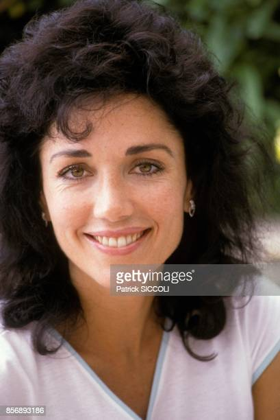 L'actrice americaine Stepfanie Kramer au tournoi de tennis de MonteCarlo le 13 juin 1988 a MonteCarlo Monaco