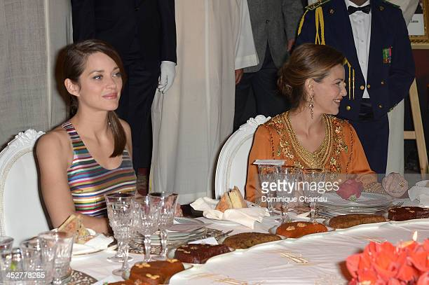 Actrice and Jury Member Marion Cotillard and Princess Lalla Meryem of Morocco attend the Royal Gala Dinner during the 13th Marrakesh International...