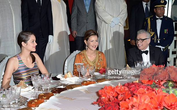Actrice and Jury Member Marion Cotillard Princess Lalla Meryem of Morocco and director and Jury President Martin Scorsese attend the Royal Gala...
