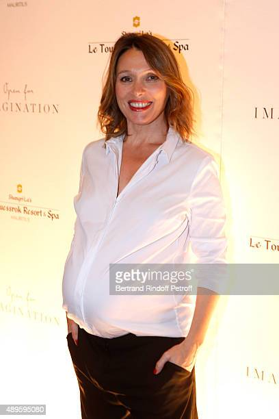 Actrice Anne Marivin pregnant attends 'ShangriLa Hotels and Resorts' presents its new Hotel in Mauritius 'Le Touessrok Resort and Spa' Held at Paris...