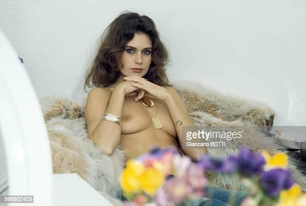 L'actrice Corinne Cléry circa 1970 en France