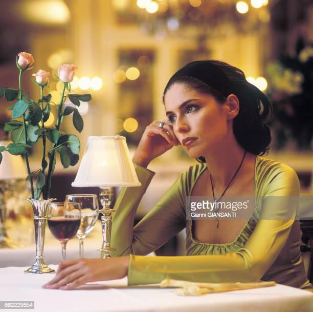 L'actrice italienne et ancienne Miss Italie 95 Anna Valle à Turin le 29 juillet 2003 Italie