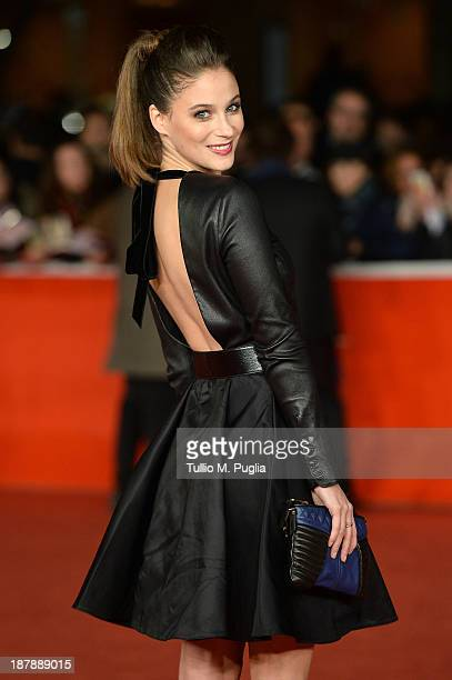 Actrice Melanie Bernier attends the 'Au Bonheur Des Ogres' Premiere during The 8th Rome Film Festival at Auditorium Parco Della Musica on November 13...