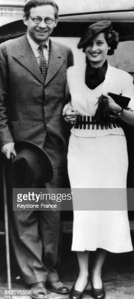 L'actrice Merle Oberon et son mari le réalisateur Alexander Korda en 1946