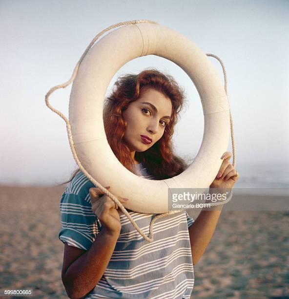 L'actrice Rosanna Schiaffino circa 1960 en France