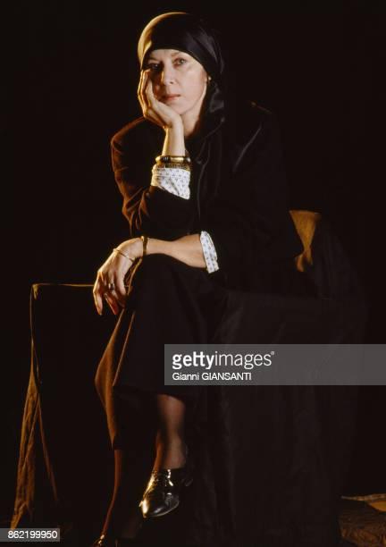 L'actrice russe Alla Demidova à Moscou en mai 1989 Russie