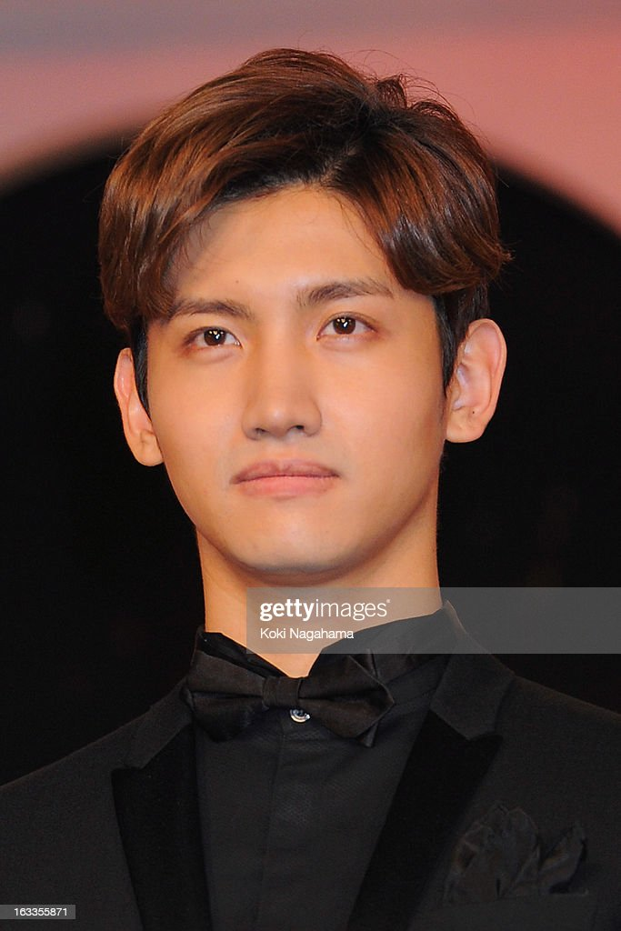 Actror and Singer Changmin poses during the 36th Japan Academy Prize Award Ceremony at Grand Prince Hotel Shin Takanawa on March 8 2013 in Tokyo Japan