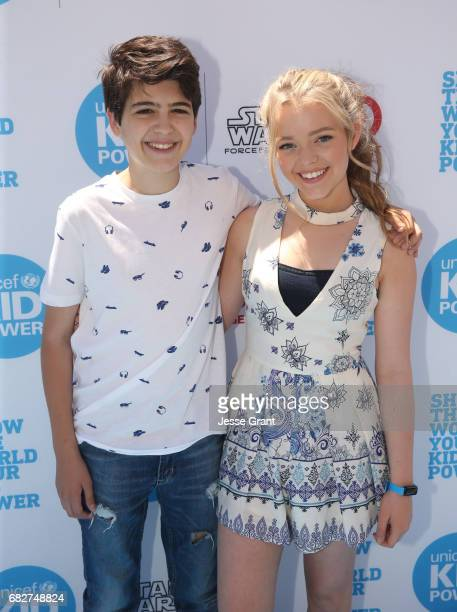 Actrors Joshua Rush and Jade Pettyjohn at UNICEF Kid Power Los Angeles event at Microsoft Square on May 13 2017 in Los Angeles California