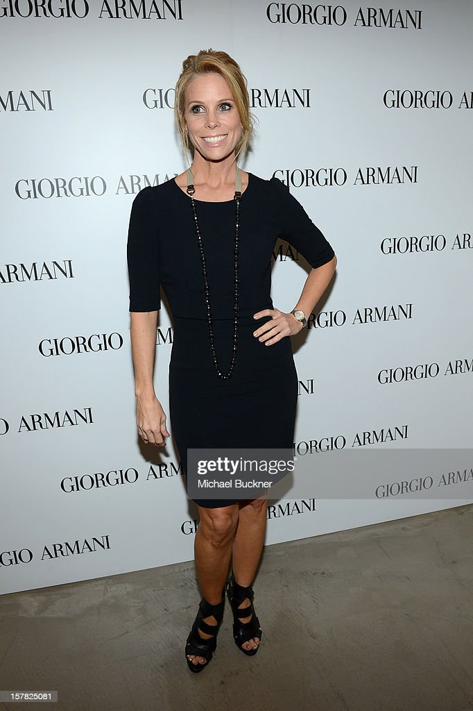 Actrress Cheryl Hines, wearing Giorgio Armani attends the Giorgio Armani Beauty Luncheon on December 6, 2012 in Beverly Hills, California.