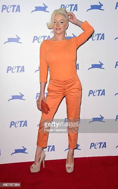 Actrss Courtney Stodden arrives at PETA's 35th Anniversary Party at Hollywood Palladium on September 30 2015 in Los Angeles California