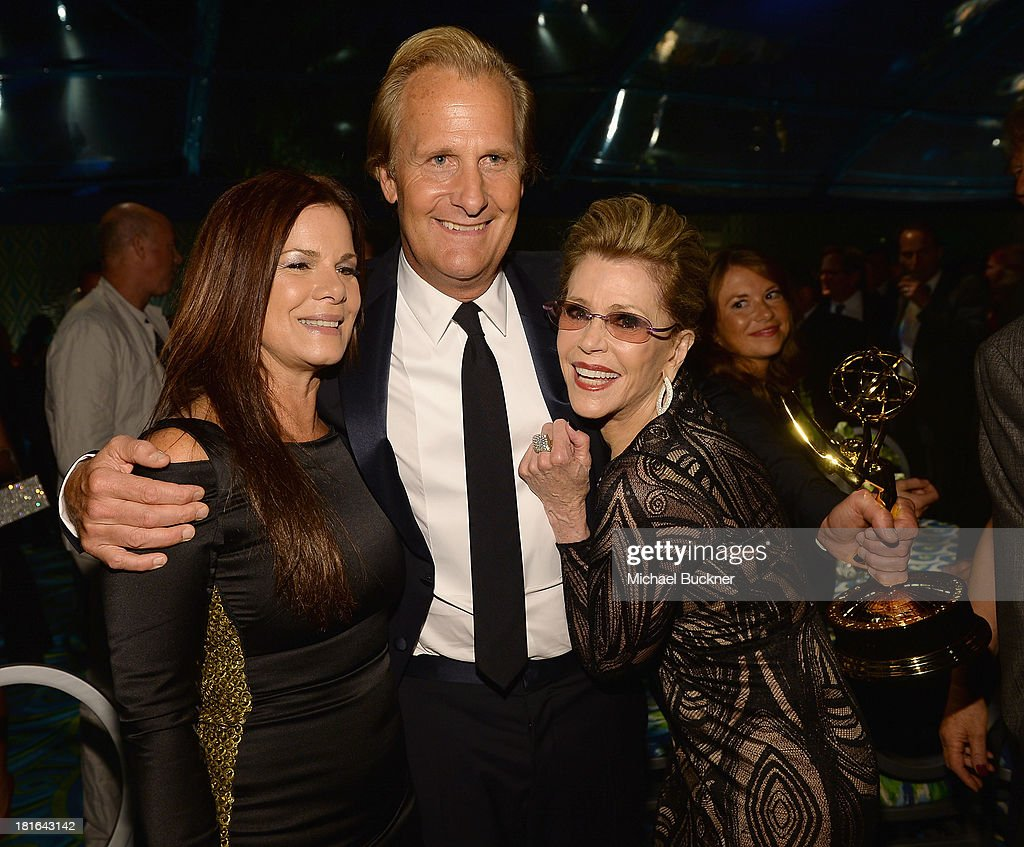 Actrss Marcia Gay Harden, actor Jeff Daniels and actress Jane Fonda attend HBO's Annual Primetime Emmy Awards Post Award Reception at The Plaza at the Pacific Design Center on September 22, 2013 in Los Angeles, California.