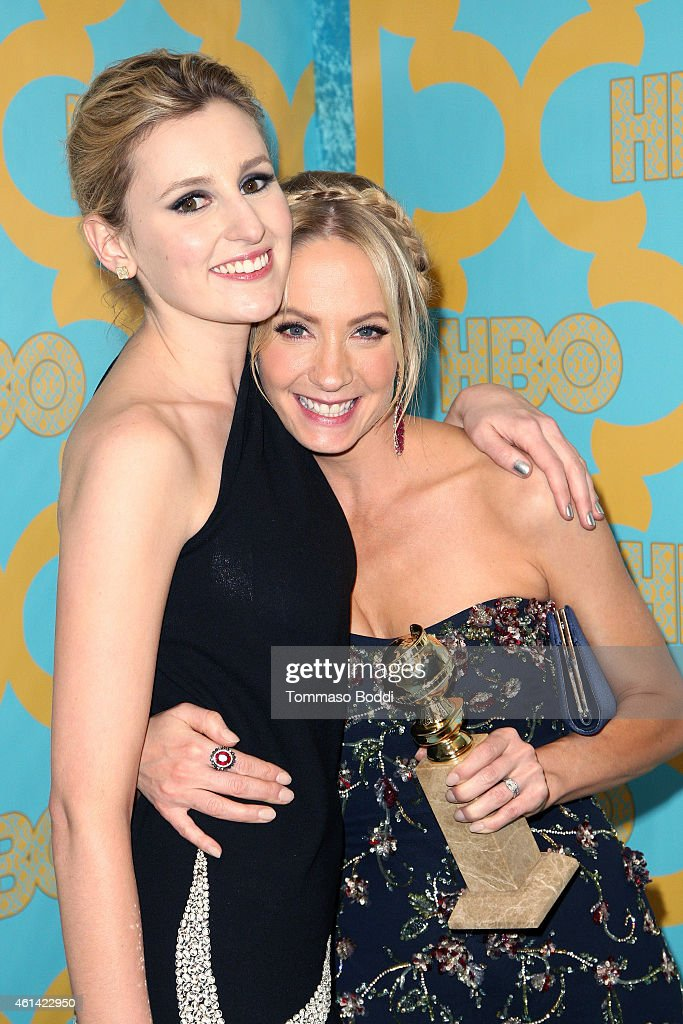 Actrsses Laura Carmichael and Joanne Froggatt attend the HBO'S Post Golden Globe Party held at The Beverly Hilton Hotel on January 11 2015 in Beverly...