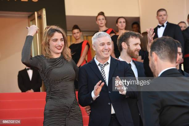 Acttress Adele Haenel director Robin Campillo and actors attend the '120 Beats Per Minute ' screening during the 70th annual Cannes Film Festival at...