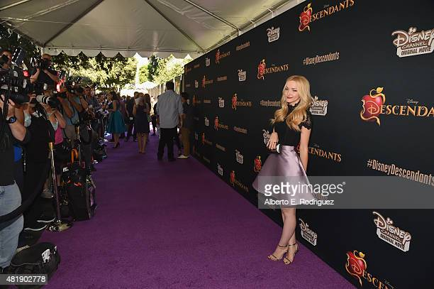Acttress Dove Cameron attends the premiere of Disney Channel's 'Descendants' at Walt Disney Studios on July 24 2015 in Burbank California