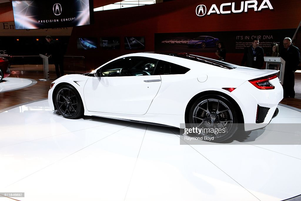 Acura NSX is on display at the 108th Annual Chicago Auto Show at McCormick Place in Chicago Illinois on February 11 2016