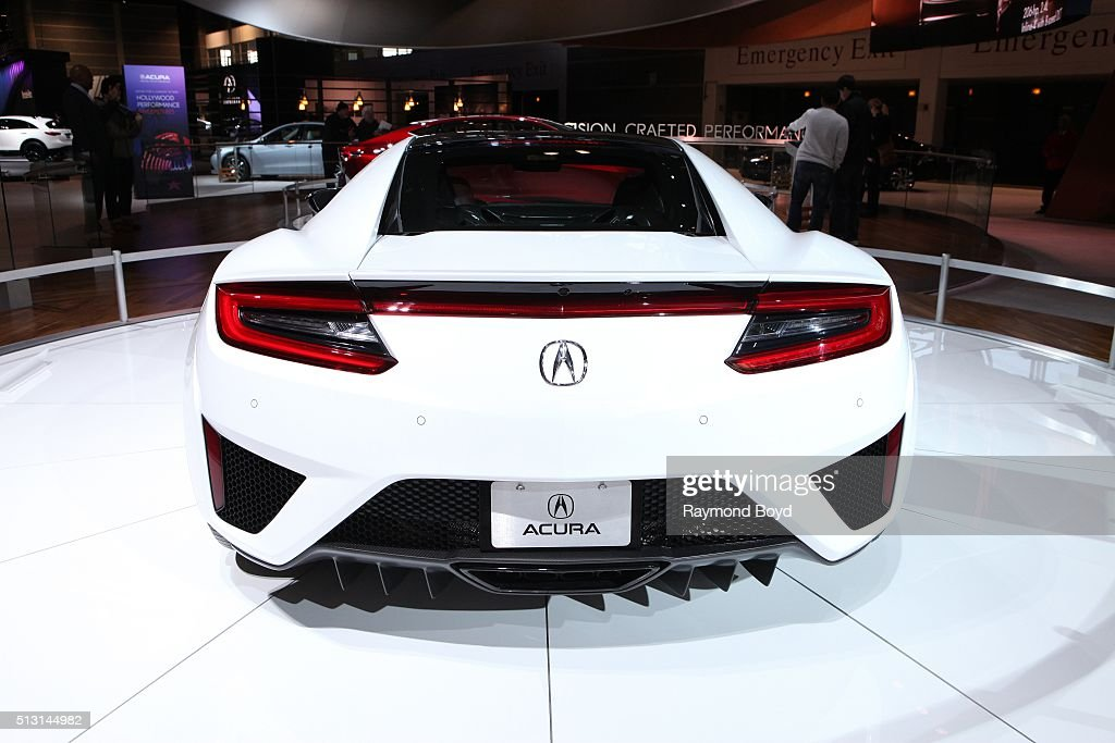 Acura NSX is on display at the 108th Annual Chicago Auto Show at McCormick Place in Chicago Illinois on February 19 2016