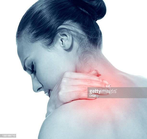 Acute pain in a neck at the young women