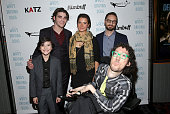 Acvtor Hunter Payton actor RJ Mitte actress Paloma Kwiatkowski director David Michael Conley and writer Michael Carnick attend the premiere of...