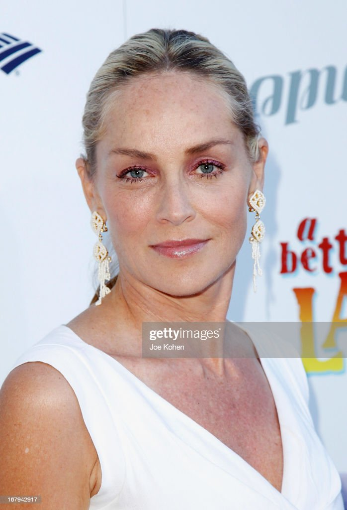 Acytress <a gi-track='captionPersonalityLinkClicked' href=/galleries/search?phrase=Sharon+Stone&family=editorial&specificpeople=156409 ng-click='$event.stopPropagation()'>Sharon Stone</a> attends a Better LA celebrates 10 Years With 'An Evening With A View' Gala at AT&T Center on May 2, 2013 in Los Angeles, California.