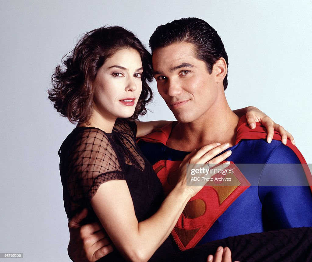 SUPERMAN - Ad Gallery - 8/16/94, <a gi-track='captionPersonalityLinkClicked' href=/galleries/search?phrase=Teri+Hatcher&family=editorial&specificpeople=202145 ng-click='$event.stopPropagation()'>Teri Hatcher</a> (Lois), <a gi-track='captionPersonalityLinkClicked' href=/galleries/search?phrase=Dean+Cain&family=editorial&specificpeople=210672 ng-click='$event.stopPropagation()'>Dean Cain</a> (Superman/Clark Kent),