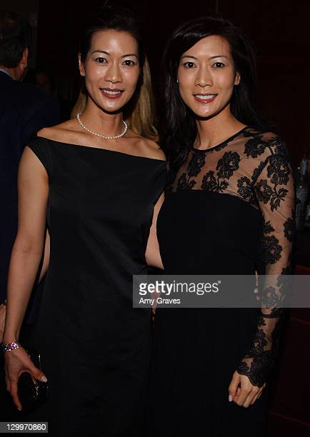 Ada and Arlene Tai during Stuart Weitzman Oscar Dinner at Christies in Los Angeles California United States