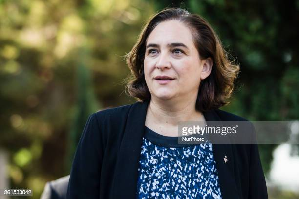 Ada Colau Mayor of Barcelona during the Conmemoration of the 77 years since the execution of the independence President of Catalonia Lluis Companys...