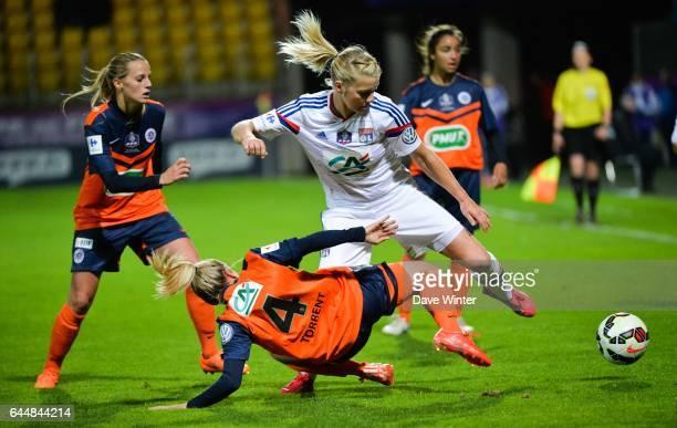 Ada HEGERBERG / Marion TORRENT Montpellier / Lyon Finale Coupe de France Calais Photo Dave Winter / Icon Sport