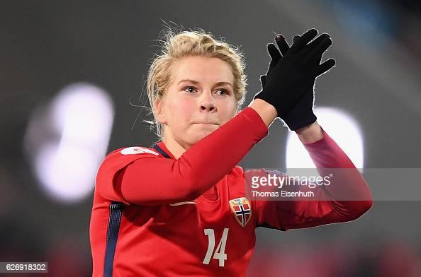 Ada Hegerberg of Norway during the women's international friendly ...