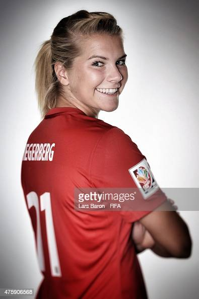 Ada Hegerberg of Norway poses during the FIFA Women's World Cup 2015 ...