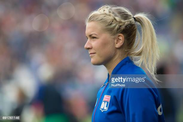 Ada Hegerberg of Olympique Lyon during the UEFA Women's Champions League Final between Lyon Women and Paris Saint Germain Women at the Cardiff City...