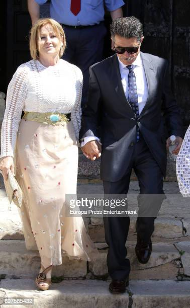 Ada Hoyos and Tito Bustamante attend the First Communion of Daniella Bustamante in San Vicente de la Barquera on June 17 2017 in San Vicente de la...