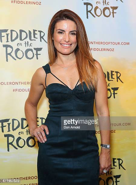 Ada Nicodemou arrives for opening night of Fiddler On The Roof at Capitol Theatre on March 29 2016 in Sydney Australia