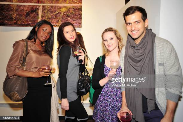 Ada Odem Yelena Diana Companin and Daniel Hernandez attend MINNIE MORTIMER Fall 2010 Presentation at Mina Gallery on February 9 2010 in New York City